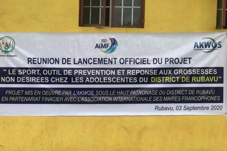 Rubavu:Lancement du projet de prévention des grossesses non désirées chez les adolescentes par le sport